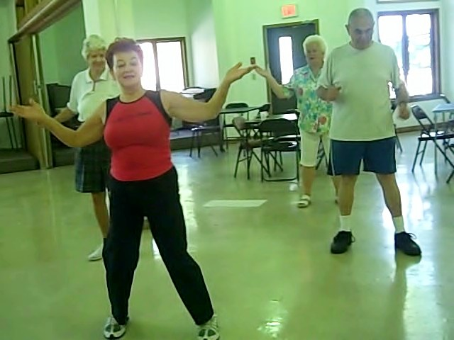 Aging gracefully with zumba grandma shellie teaches for Chair zumba
